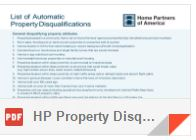 Automatic Property Disqualification