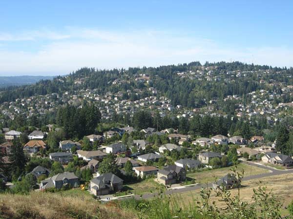 Overlooking Happy Valley, Portland Oregon